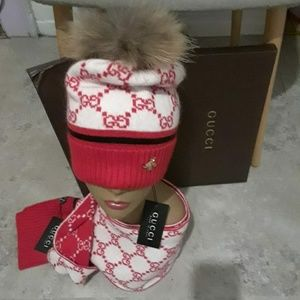 Gucci hat and scarf unisex